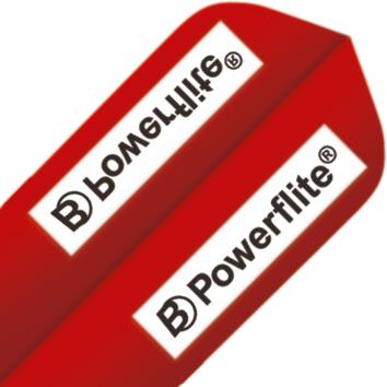 Image of   BULL'S Powerflite Slim Shape - Logo Rød
