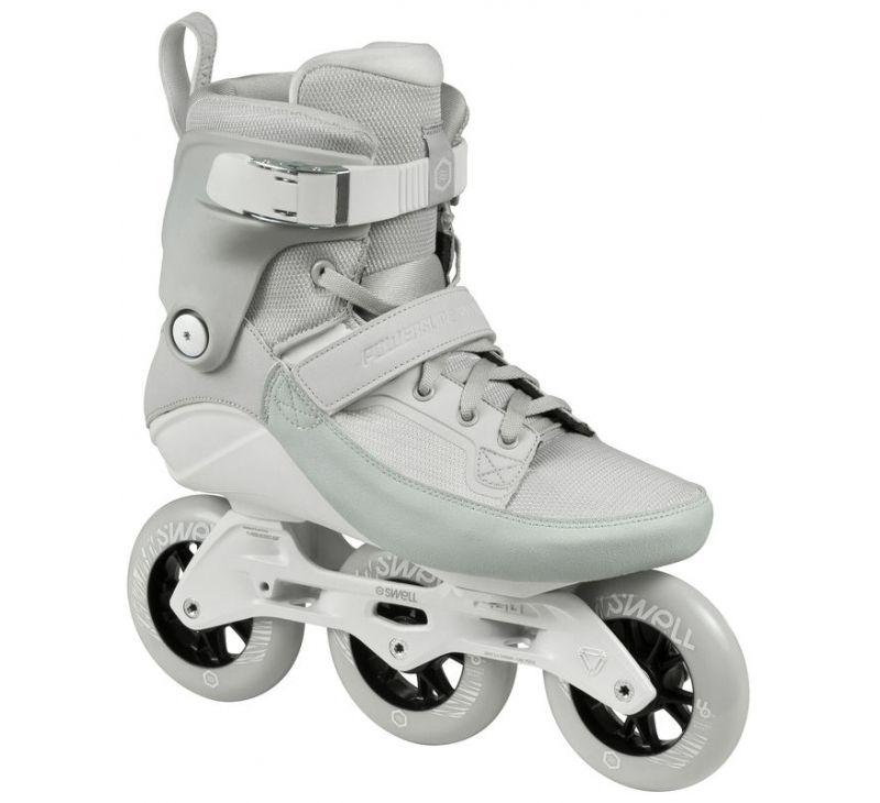 Image of   Powerslide Swell Trinity 100 Moon Grey Skates - Grey - 40