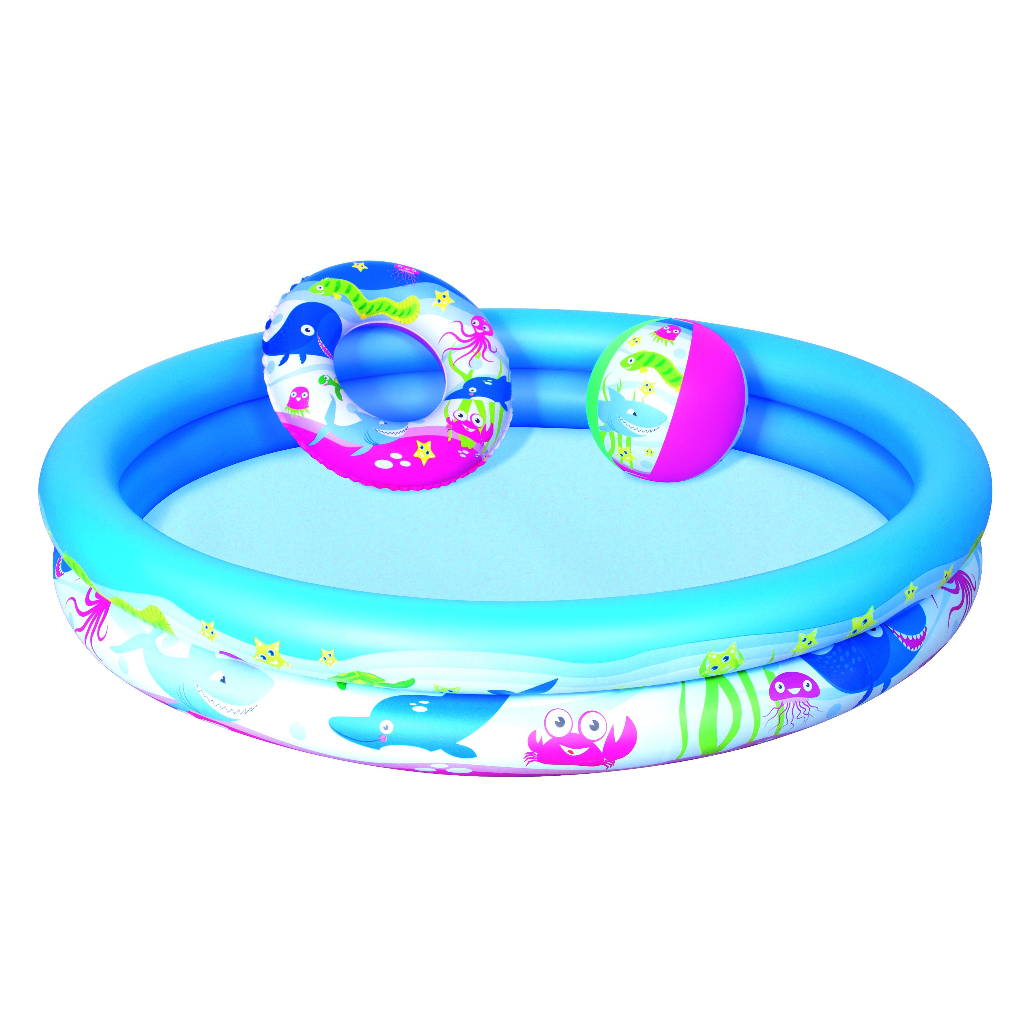 Image of   Bestway Børne Play Pool med Swim Ring og Ball - 147 x 25 cm