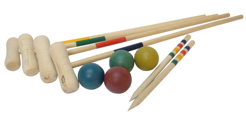 Image of   Bex Croquetset 4 spillere Colorbox Basic Birch