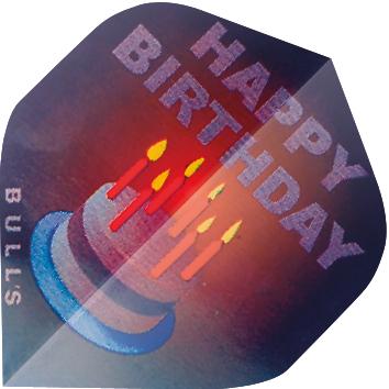 Image of   BULL'S Motex Fly Standard A-Shape - Happy Birthday