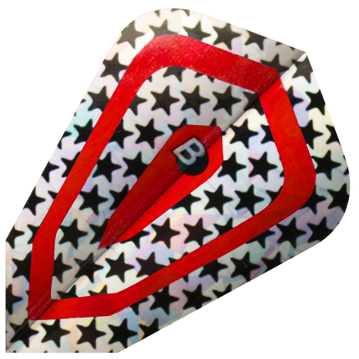 Image of   BULL'S Diamond Fly Fantasy Shape - Stars Rød