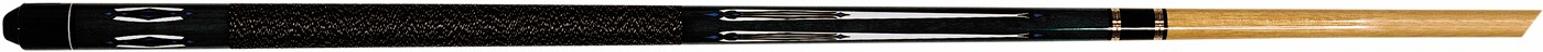 Goede kwaliteit 2 delige hardhouten keu.  strak design in shaft en butt .  met plastic screw on tip ...