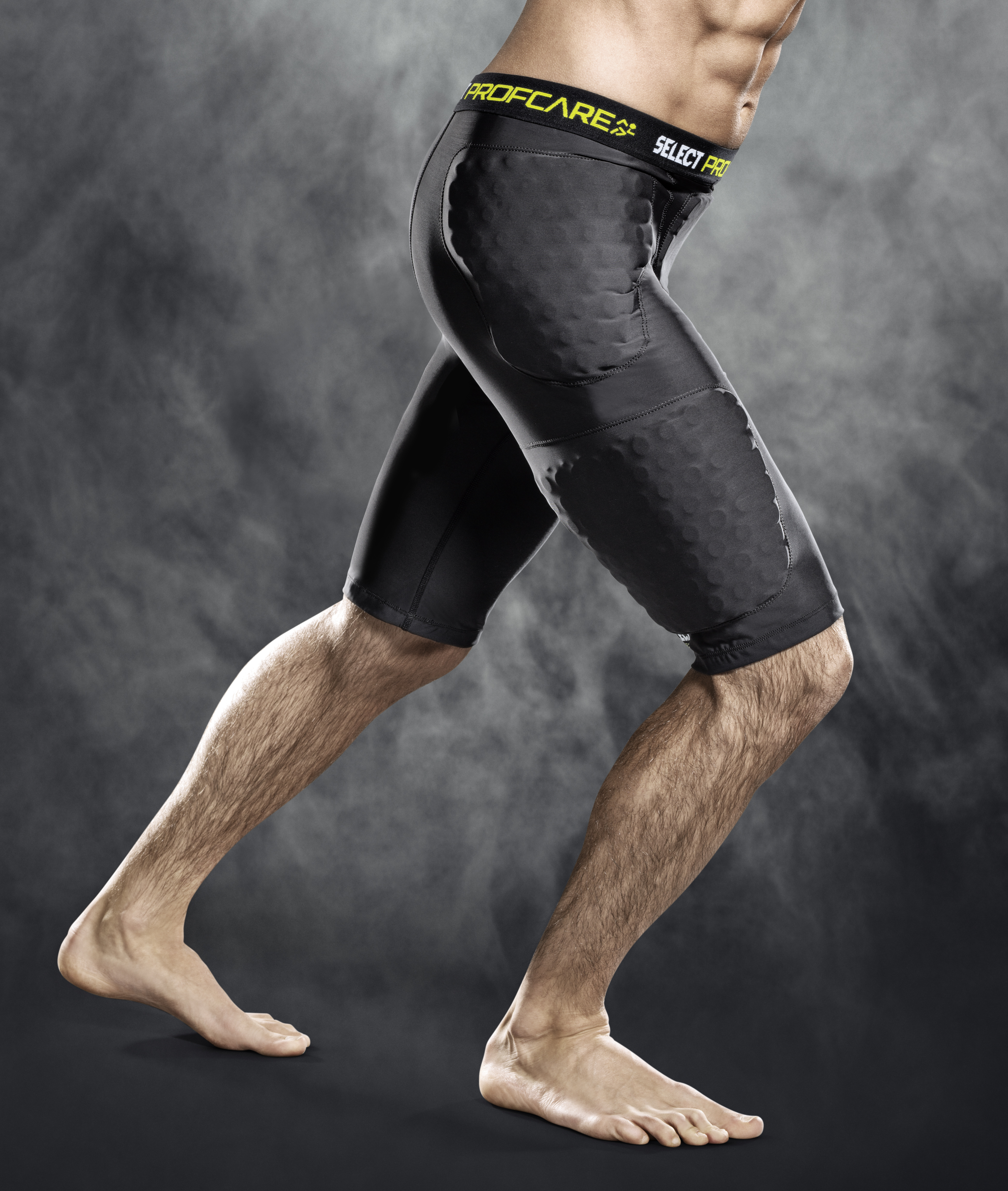 Select Profcare Compression Shorts with Pads - Black - XXL