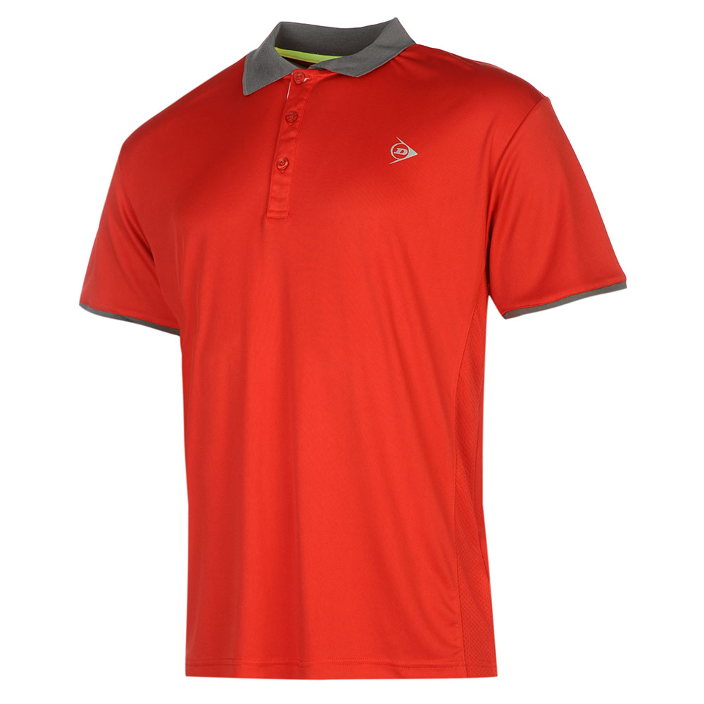 Image of   Dunlop AC Club Polo Heren - Rood / antraciet