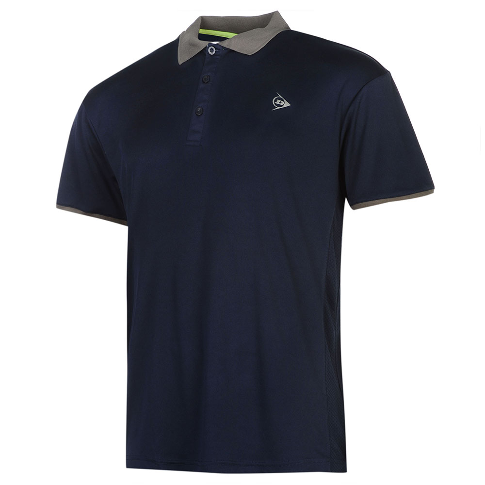 Image of   Dunlop AC Club Polo Heren - Marineblauw / antraciet