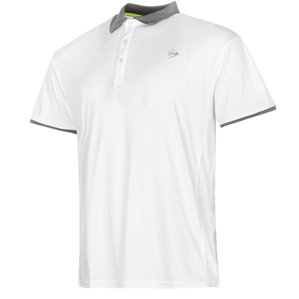 Image of   Dunlop AC Club Polo Heren - Wit / antraciet - L