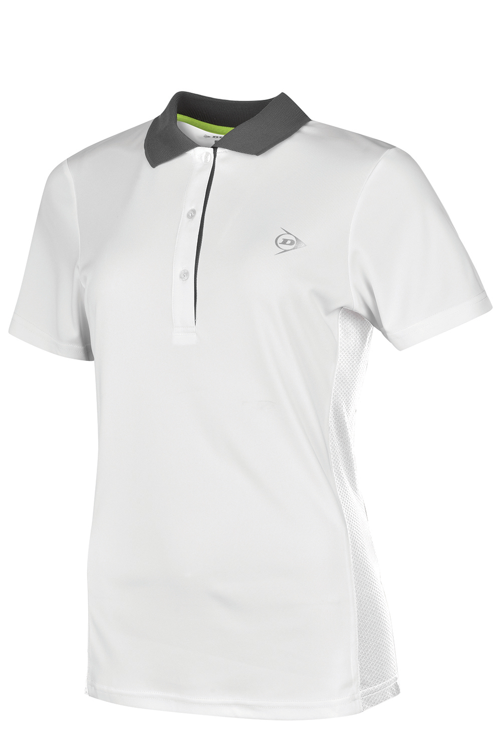 Image of   Dunlop AC Club Polo Dames - Wit / antraciet - L