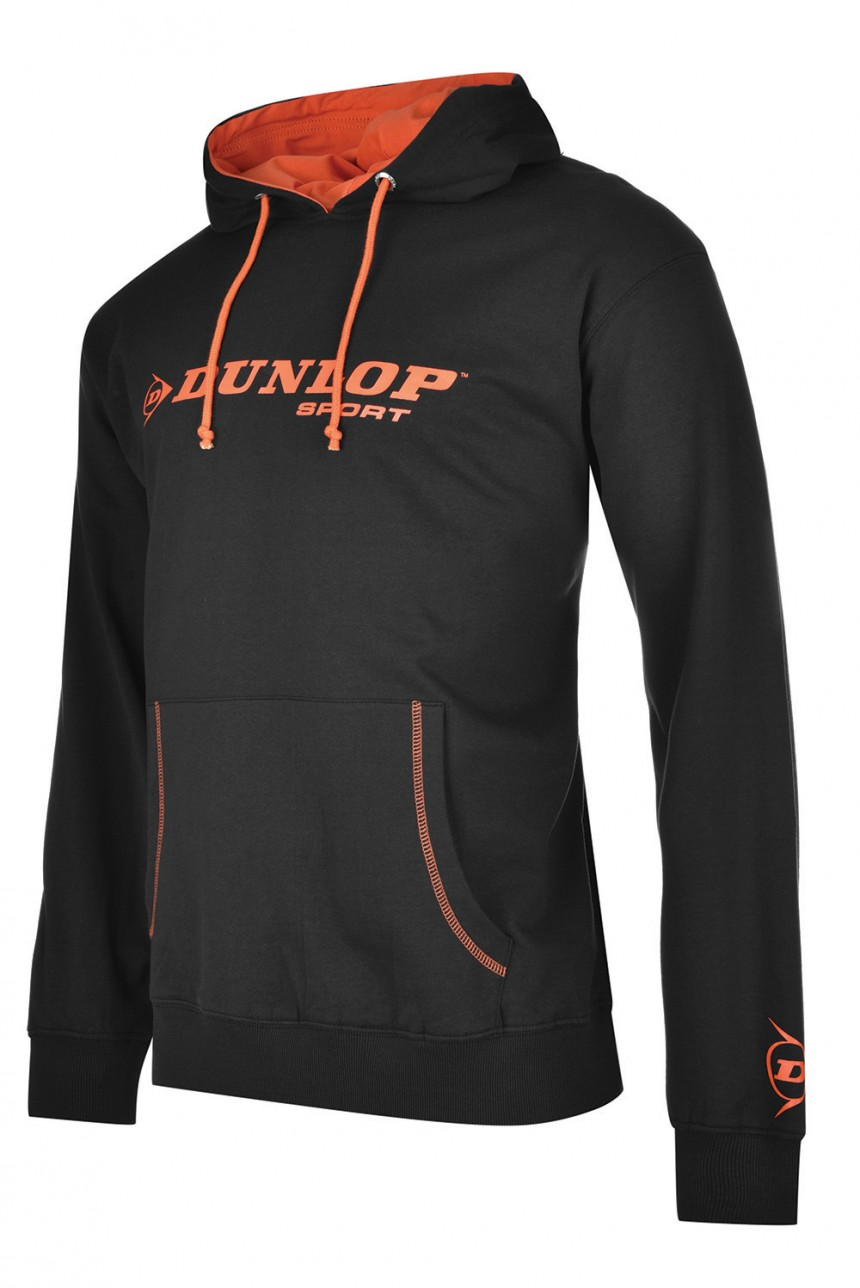 Dunlop AC Essential Hoodie Sweater Junior - Zwart / Oranje - 152