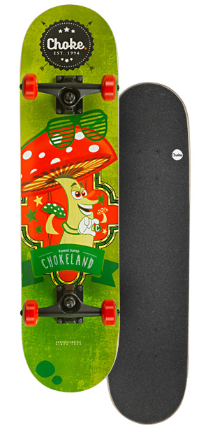 Image of   Choke Happy Nature Skateboard 31 tommer - Forest Jump