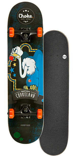 Image of   Choke Happy Nature Skateboard 31 tommer - Angry Vulture
