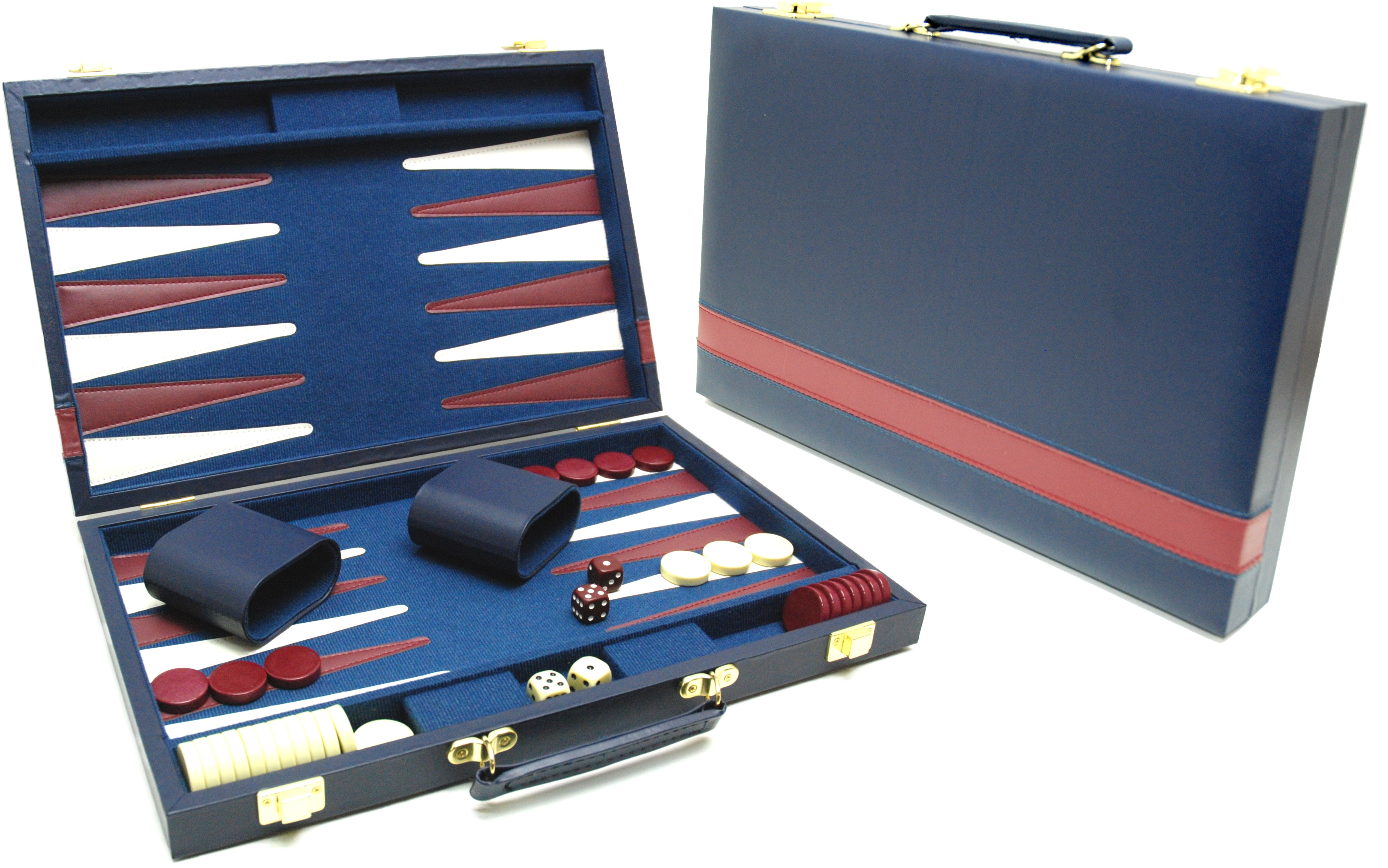 Image of   Backgammon Case Blå - 38 x 24 cm