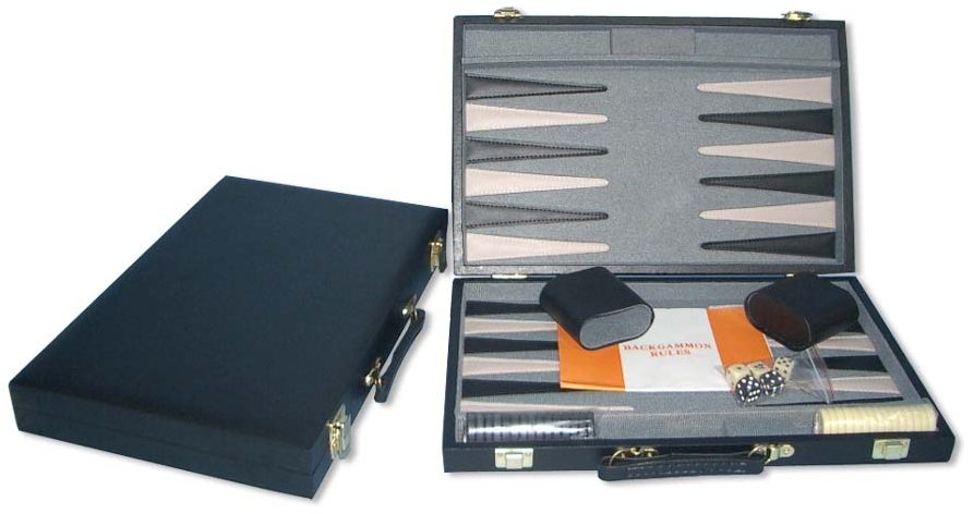 Image of   Backgammon Case - Sort - 38 x 24 cm