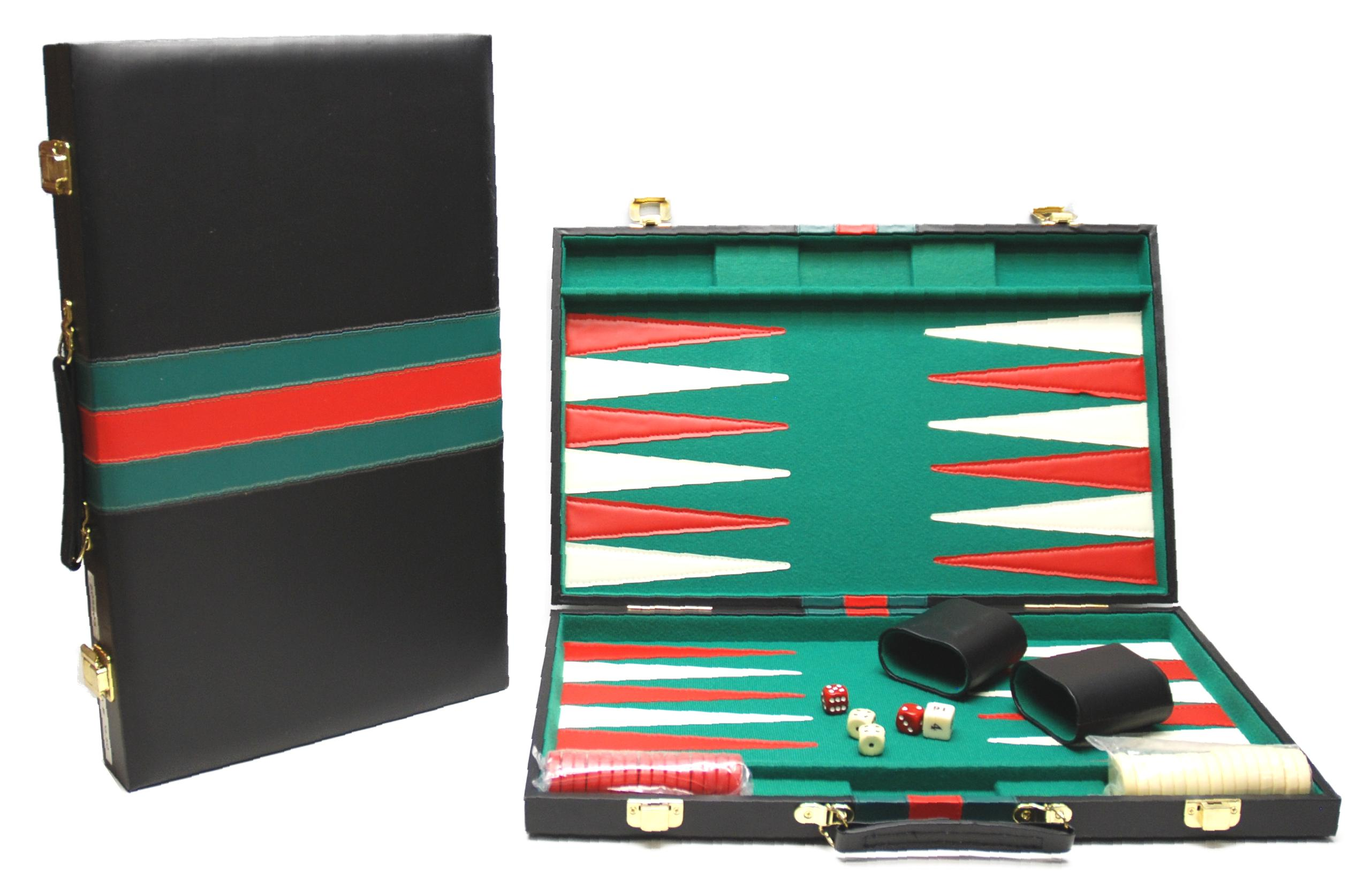 Image of   Backgammon Case - Sort - 46 x 29 cm