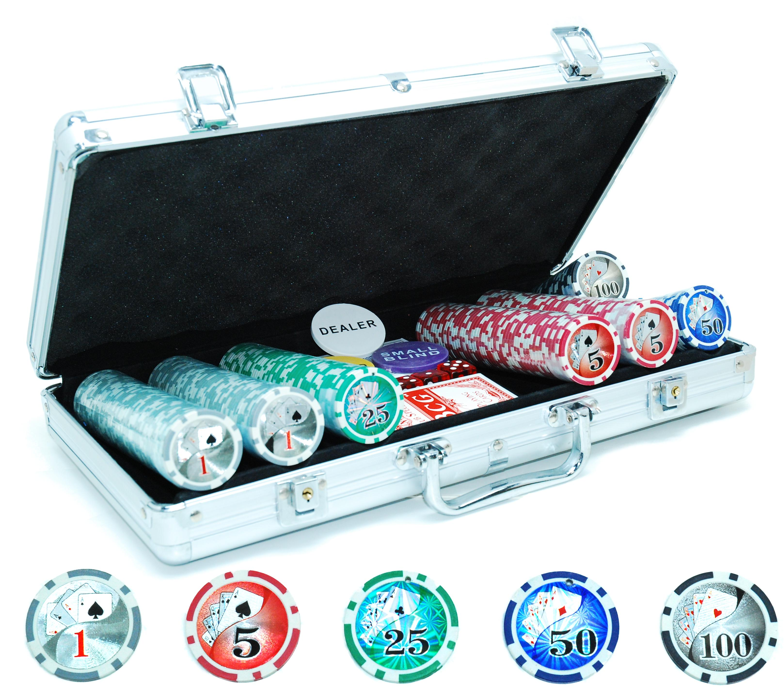Image of   Poker Chips Case Laser 300 Chips 11,5 gr