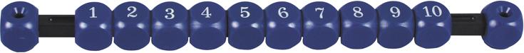 Image of   Score counter blå firkant