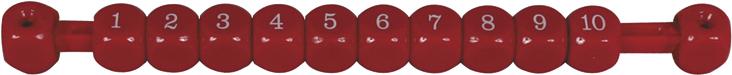 Image of   Score counter røde firkant
