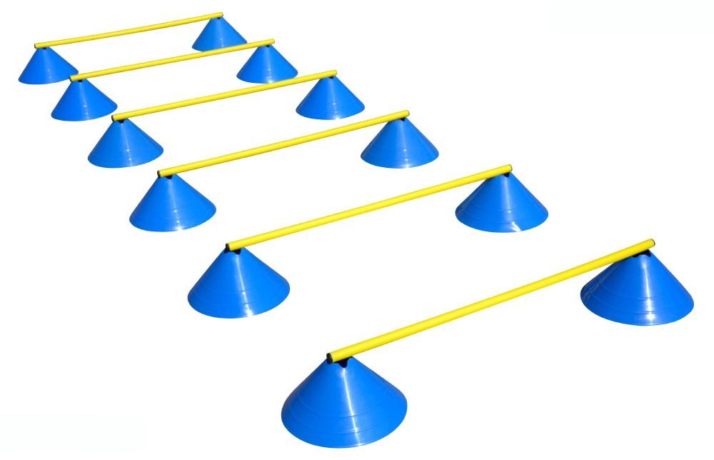 Behendigheid Horden Set - Zes Horden - 16 cm licht blauw