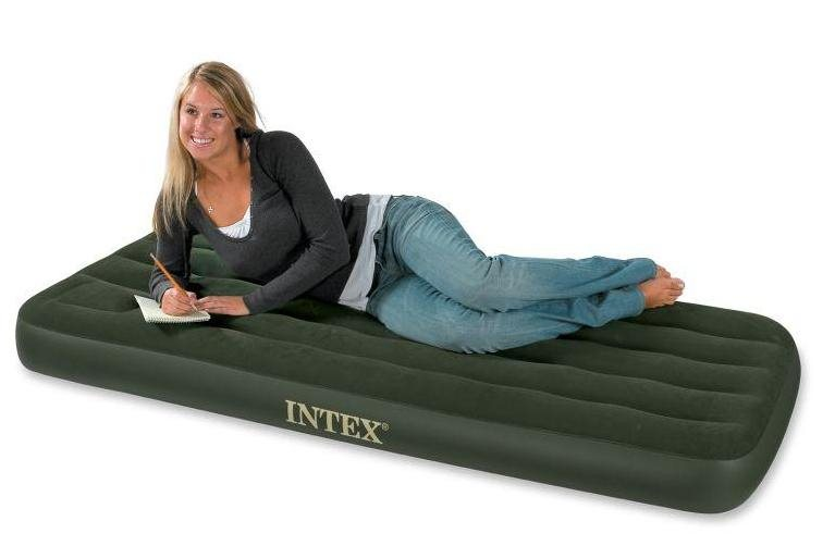 Image of   Intex Airbed med indbygget fodpumpe - Small 1 person