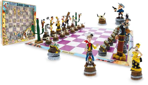 Juego de ajedrez de Lucky Luke Board