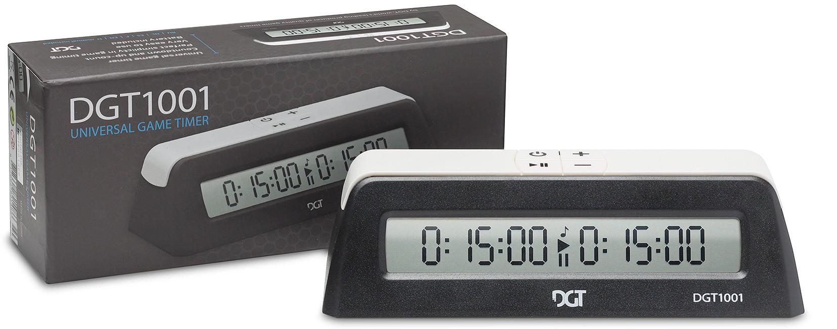 DGT Reloj de Ajedrez 1001 Digital Negro
