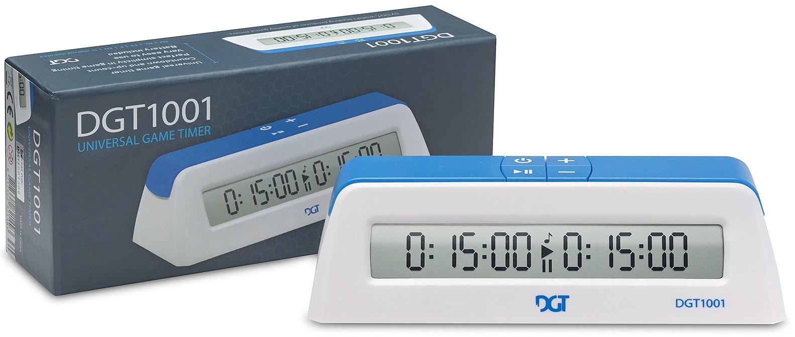 DGT Reloj de Ajedrez 1001 Digital Blanco