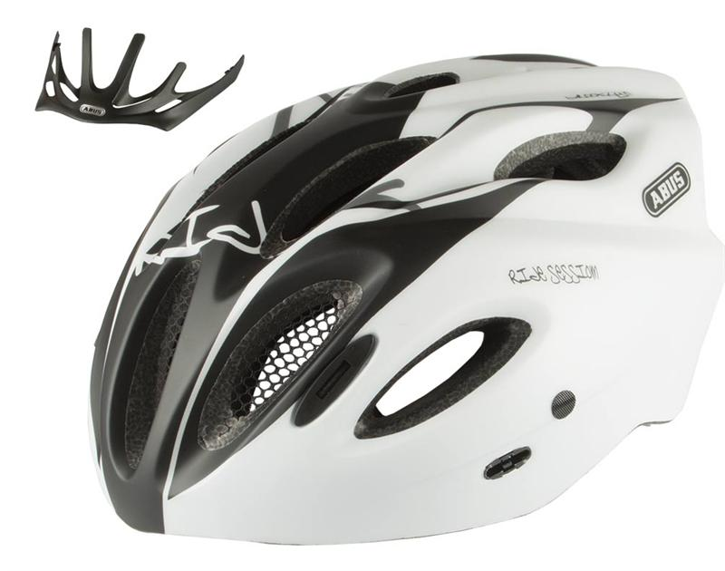 Image of   Abus Aduro Road Helmet - Sort / Hvid - L