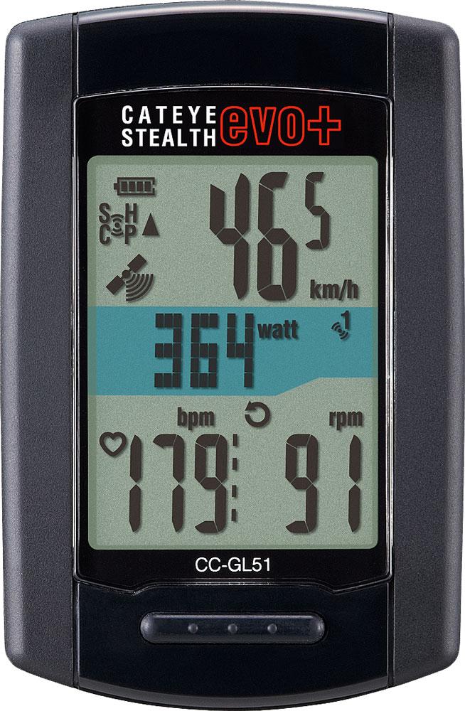Cateye ciclocomputador STEALTH EVO + GL51 - Negro