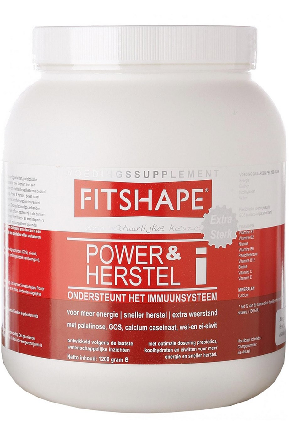 Image of   Fitshape Power & Recovery Strawberry 1200 g