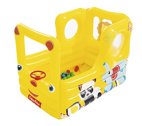 Image of   Bestway School Bus Air Ball Pit - Yellow