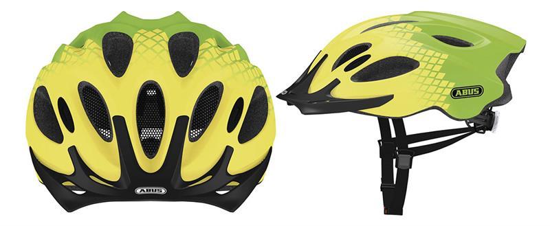 Image of   Abus Aduro Road Helmet - Gul / Grøn
