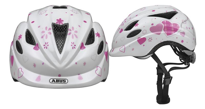 Image of   Abus Anuky Helmet junior - Hearts Hvid - M
