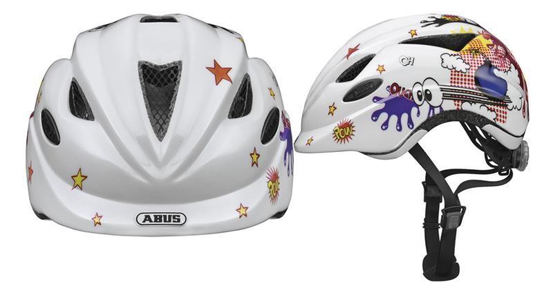Image of   Abus Anuky Helmet junior - Comic Hvid