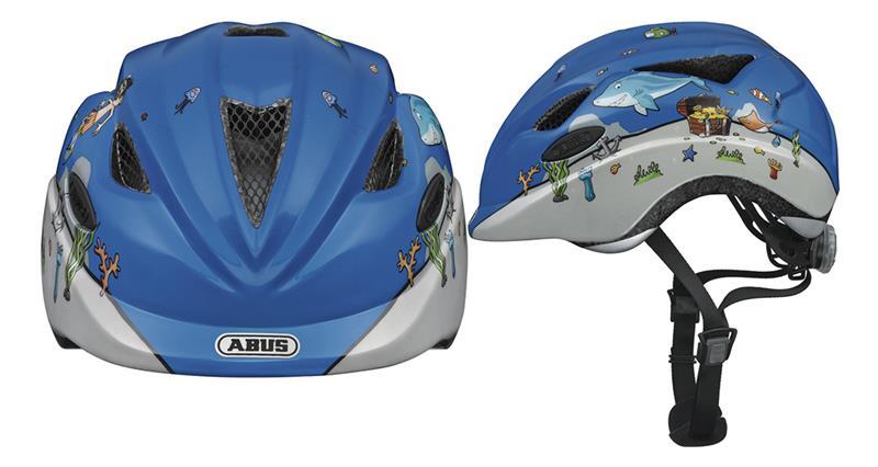 Image of   Abus Anuky Helmet junior - Diver Blå / Hvid