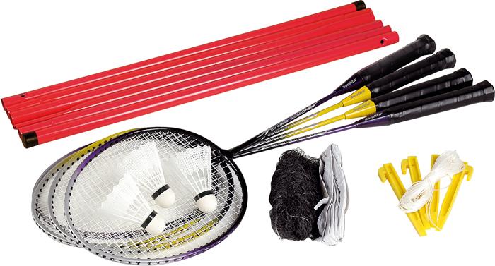 Image of   Bandito 4 Player Badminton Set med Net