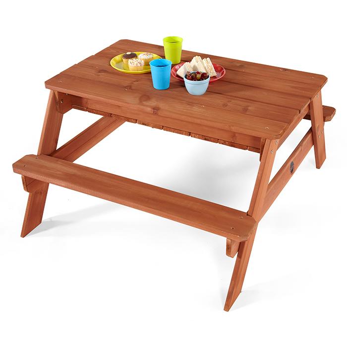 Plum houten zand en picknicktafel