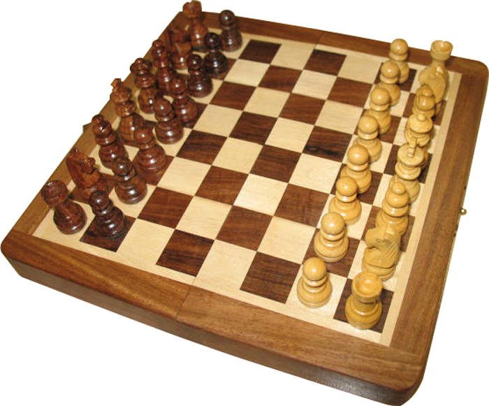 Image of   Buffalo Chess Set Magnetic 9x17 Pallisander