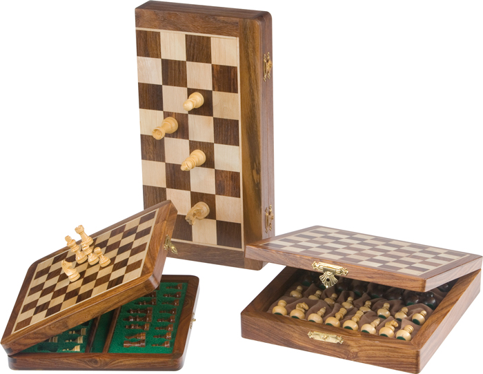 Image of   Buffalo Chess Set Magnetic 15x30 Pallisander