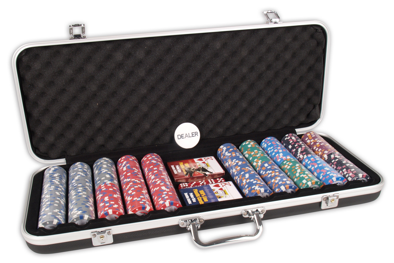 Image of   Buffalo DLX500 Pokerset Clay Chips