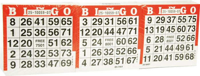 Image of   Buffalo Bingo Cards - 1500 pcs