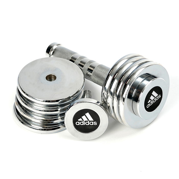 Image of   Adidas Chrome Dumbbell Set - 5 kg