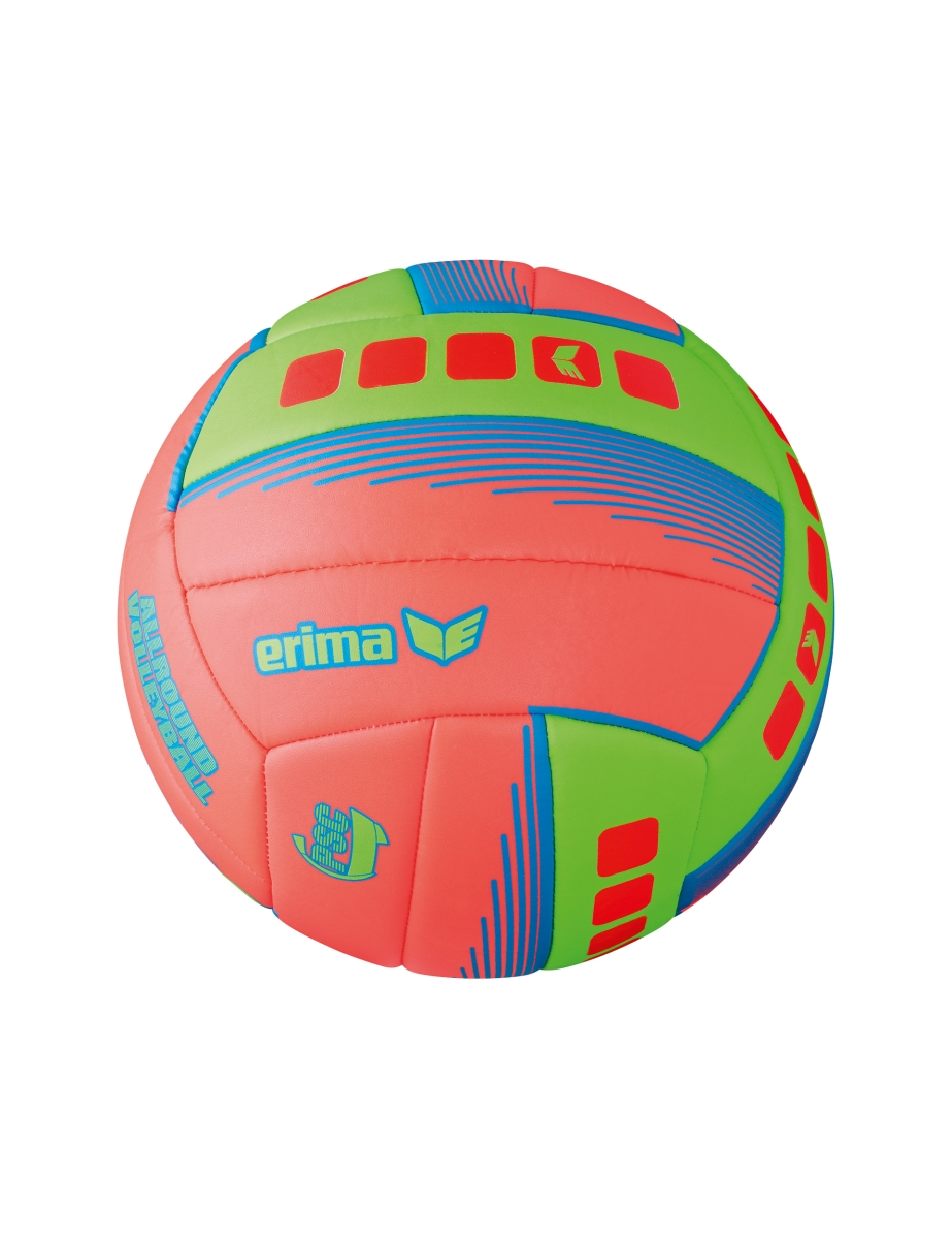 Image of   Erima Allround Volleyball - Fiery Coral / Green - 5