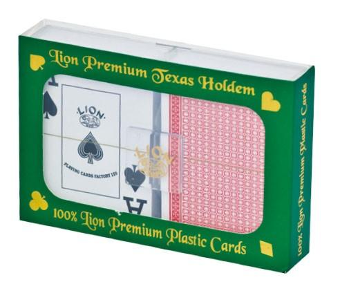 Image of   Poker Lion Spille Cardsset 100% Plastic Premium