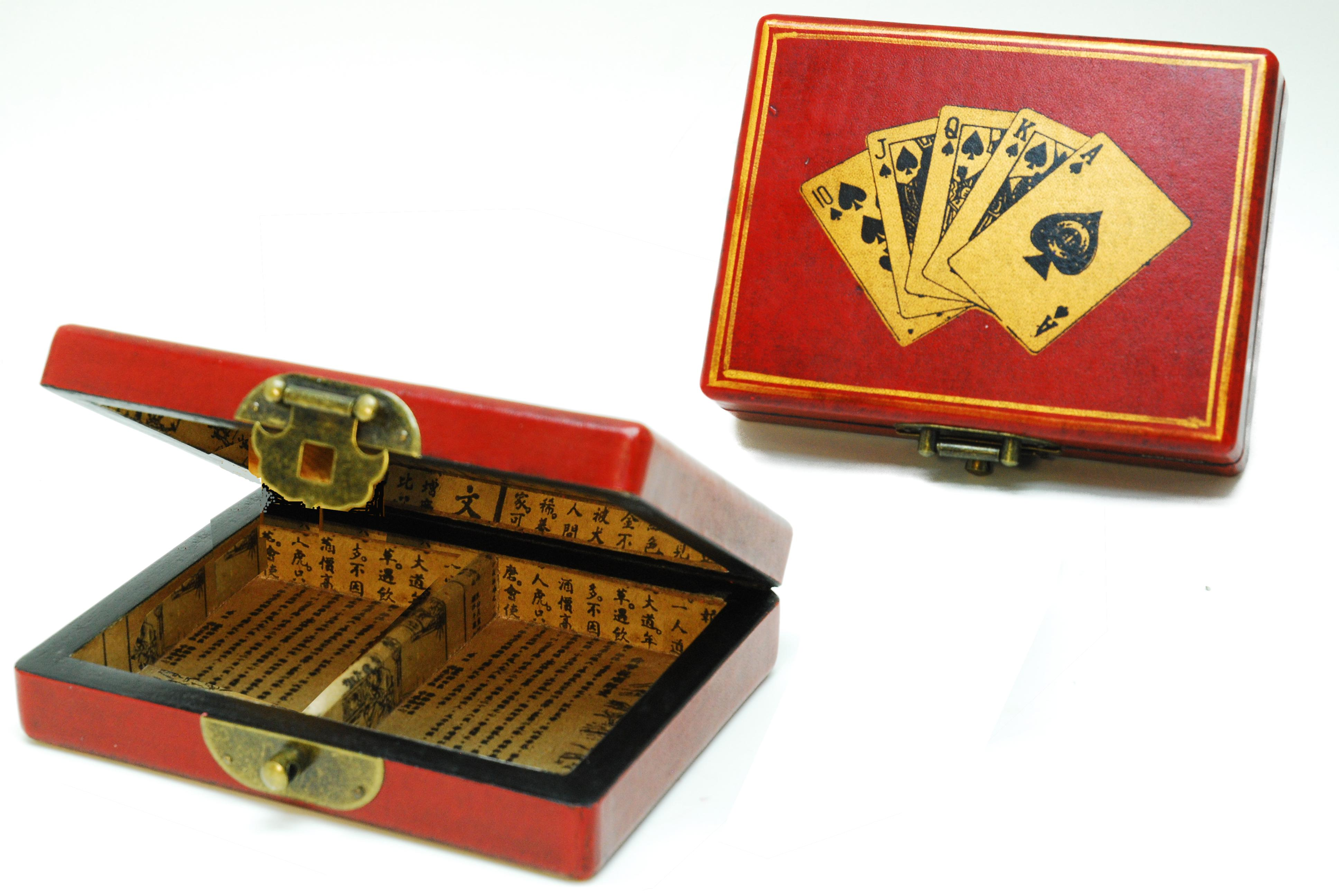Image of   Case Kina med 2 dæk Poker Playing Cards