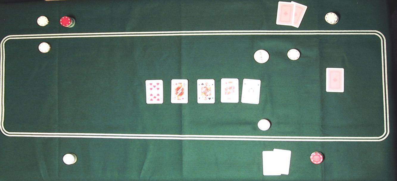 Image of   Poker Table Cloth Green Filt 93 x 182 cm line oval
