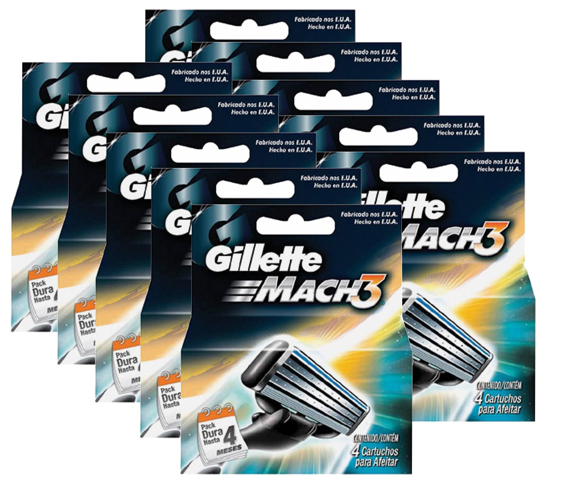 Image of   Gillette MACH 3 Mænds Razor Blade 10 stk
