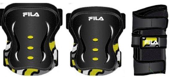 Image of   Fila FP Skate Beskyttelse Sæt - Junior - Drenge - Sort / Gul - XS