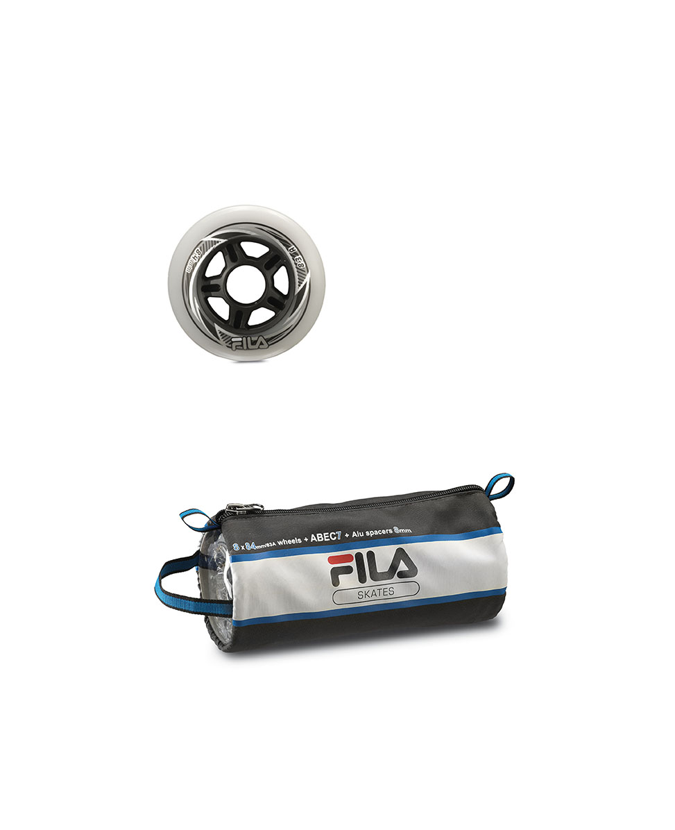 Image of   Fila Combo Wheel Set - 8 st - 90mm - 83A - grå / svart