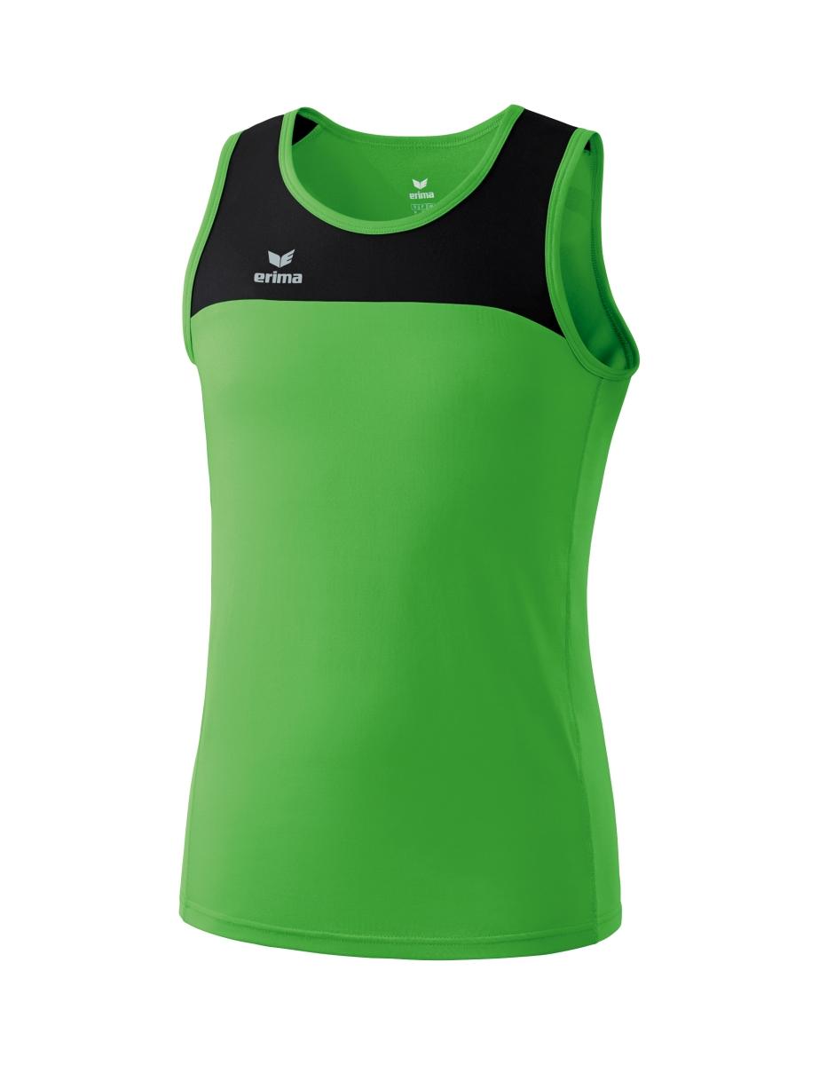 Erima Race Line Running Singlet Senior - Green / Black