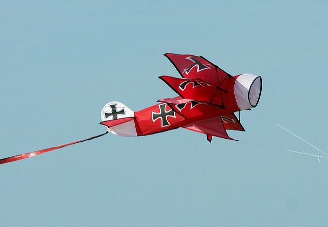 Xkites 3D Red Baron Vlieger